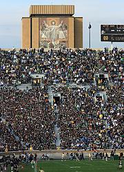Notre Dame Stadium and Touchdown Jesus