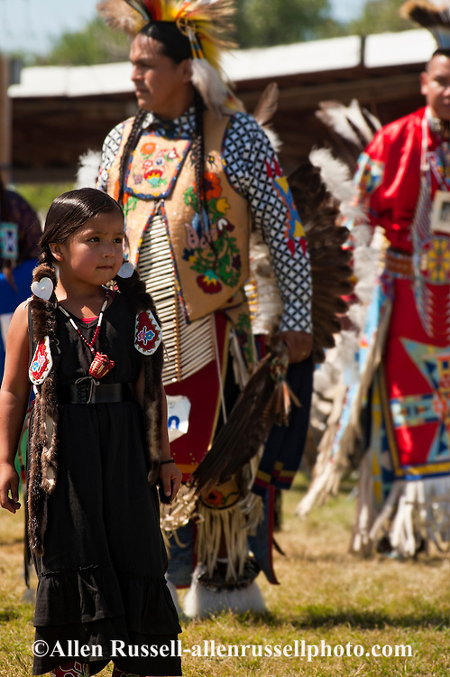 Crow Fair, powwow, Grand Entry, Kids, Montana.