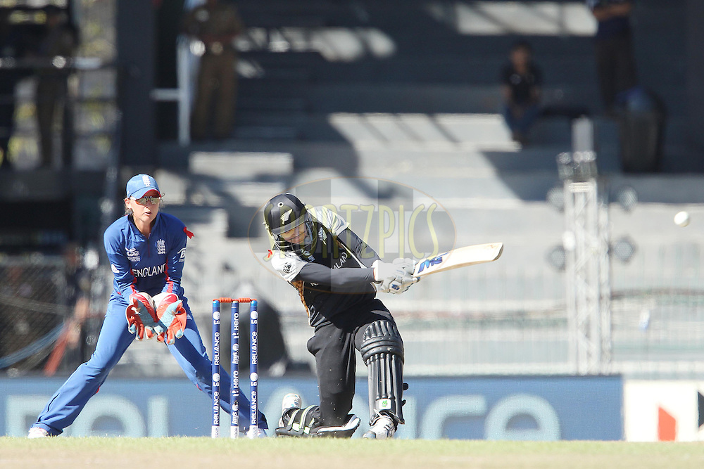 Nicola Browne of New Zealand  during the ICC Women's World Twenty20 Semi final match between England and New Zealand held at the Premadasa Stadium in Colombo, Sri Lanka on the 4th October  2012..Photo by Ron Gaunt/SPORTZPICS/PHOTOSPORT