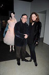 SEBASTIAN CONRAN and GERTRUDE THOME at a retrospective exhibition of Hussein Chalayan's designs sponsored by Puma at The Design Museum, London SE1 on 21st January 2009.