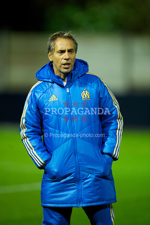 MANCHESTER, ENGLAND - Thursday, November 24, 2011: Olympique de Marseille's head coach Jean-Luc Cassini before during the NextGen Series Group 1 match against Manchester City at Ewen Fields. (Pic by David Rawcliffe/Propaganda)
