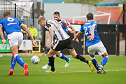 Notts County forward Jonathan Stead (30) bursts into the box during the EFL Sky Bet League 2 match between Notts County and Chesterfield at Meadow Lane, Nottingham, England on 12 August 2017. Photo by Nigel Cole.