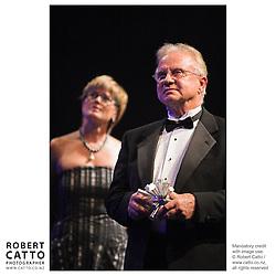 Kerry Prendergast;Dr. Alex Malahoff at the Wellington Region Gold Awards 07 at TSB Arena, Wellington, New Zealand.