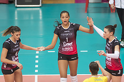 December 12, 2017 - Busto Arsizio, Varese, Italy - Vittoria Piani (#1 Yamamay e-work Busto Arsizio) during the Women's CEV Cup match between Yamamay e-work Busto Arsizio and ZOK Bimal-Jedinstvo Brcko at PalaYamamay in Busto Arsizio, Italy, on 12 December 2017. Italian Yamamay e-work Busto Arsizio team defeats 3-0 Bosnian ZOK Bimal-Jedinstvo Brcko. (Credit Image: © Roberto Finizio/NurPhoto via ZUMA Press)