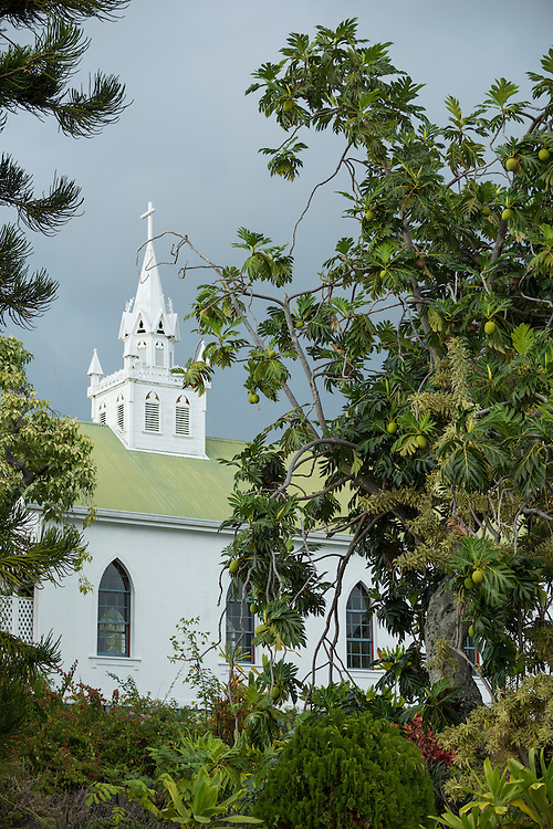 USA, Hawaii, Big Island, South Kona,St.Benedicts Painted Church,