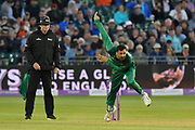 Junaid Khan of Pakistan bowling during the third Royal London One Day International match between England and Pakistan at the Bristol County Ground, Bristol, United Kingdom on 14 May 2019.