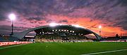 Udine, 29 Aprile 2012.Campionato di calcio Serie A 2011/2012.  35^ giornata. Stadio Friuli..Udinese vs Lazio. .Nella foto: panoramica dello stadio al tramonto..© foto di Simone Ferraro