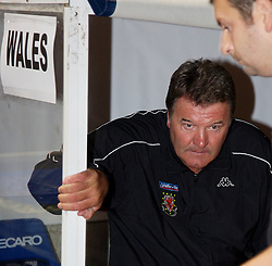 Nicosia, Cyprus - Saturday, October 13, 2007: Wales' manager John Toshack during the Group D UEFA Euro 2008 Qualifying match against Cyprus at the New GSP Stadium in Nicosia. (Photo by David Rawcliffe/Propaganda)