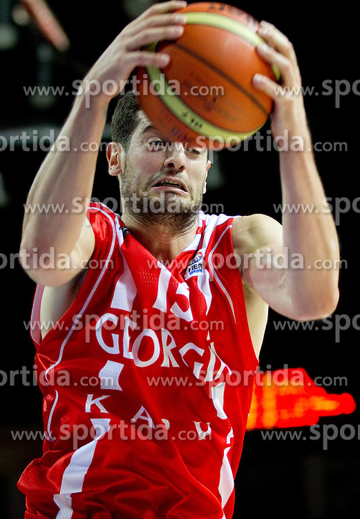Nikoloz Tskitishvili of Georgia during basketball match between National teams of Belgium and Georgia in Group D of Preliminary Round of Eurobasket Lithuania 2011, on August 31, 2011, in Arena Svyturio, Klaipeda, Lithuania. Georgia defeated Belgium 81 - 59. (Photo by Vid Ponikvar / Sportida)