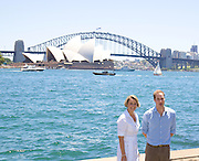 Priince William and Premier of NSW Kristina Keneally at the Royal Botanic Gardens..Seen with the opera House & Bridge behind them..Pics: Paul Lovelace 20.01.10 [ Total 78 pics].[Non Exclusive] . An instant sale option is available where a price can be agreed on image useage size. Please contact me if this option is preferred.