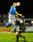 Eastleigh's James Constable during the The FA Cup third round match between Eastleigh and Bolton Wanderers at Silverlake Stadium, Ten Acres, Eastleigh, United Kingdom on 9 January 2016. Photo by Graham Hunt.