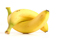 Studio shot of bananas on white bacground