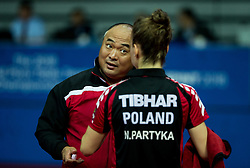 Coach and Partyka Natalia of Poland at final match during Day 4 of SPINT 2018 - World Para Table Tennis Championships, on October 20, 2018, in Arena Zlatorog, Celje, Slovenia. Photo by Vid Ponikvar / Sportida