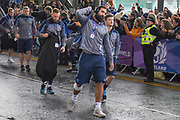Josh Strauss ands team mates arrive for the Autumn Test match between Scotland and Argentina at Murrayfield, Edinburgh, Scotland on 24 November 2018.