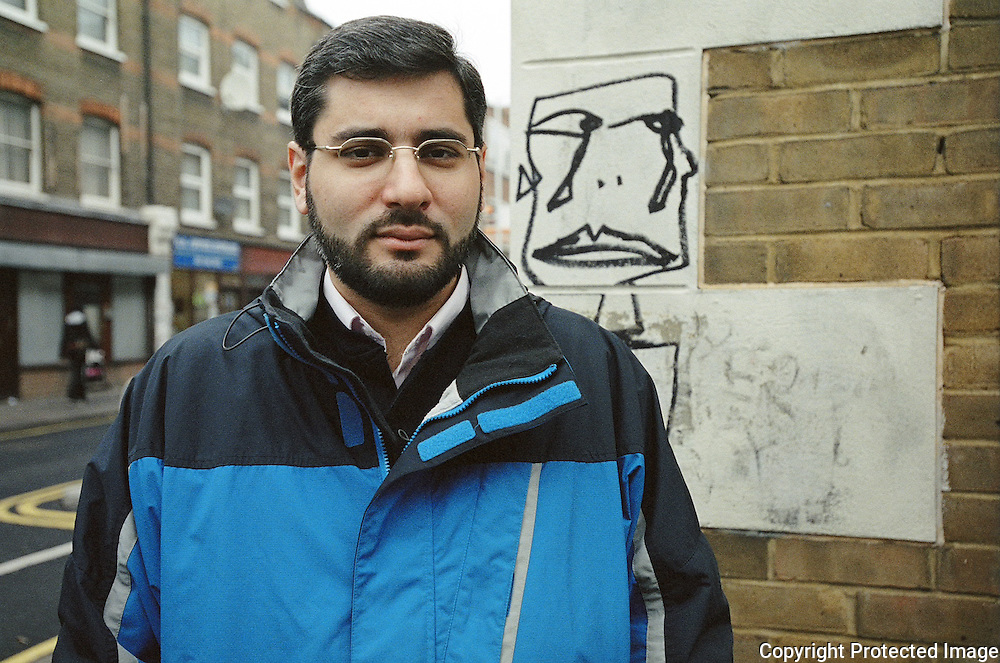 A portrait taken for Reprieve of a Canadian citizen originally from Syria, held without charge for a number of years in Damascus in a cell he said was too small to stand up or stretch out in.