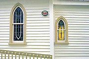 Detail of exterior of a country church. Muskoka Country. <br /> Fenn Point<br /> Ontario<br /> Canada