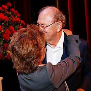 NLD/Amsteram/20121024- Presentatie biografie Joop van den Ende, Janine Klijburg en partner Joop van den Ende