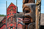 Eagle House. The nonprofit 'Ksan Historical Village is a living museum of the Gitxsan Indigenous people, reconstructed in 1970 in the Skeena Country of Northwestern British Columbia, Canada. See impressive cultural artworks painted on longhouses and carved in totem poles. 'Ksan is near Hazelton at the confluence of the Skeena and Bulkley Rivers on Gitxsan territory. 'Ksan was founded in 1866 (before Hazelton) and was populated by the Gitxsan Indigenous people.