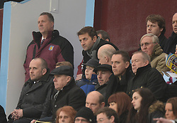 Aston Villa Manager,Tim Sherwood watches on from the stand. - Photo mandatory by-line: Alex James/JMP - Mobile: 07966 386802 - 15/02/2015 - SPORT - Football - Birmingham - Villa Park - Aston Villa v Leicester City - FA Cup - Fifth Round