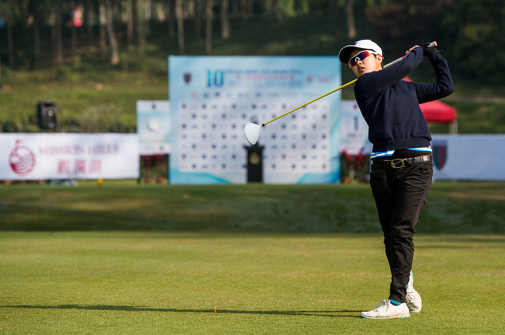Jacqueline Young of Singapore in action during day one of the 10th Faldo Series Asia Grand Final at Faldo course in Shenzhen, China. Photo by Xaume Olleros.