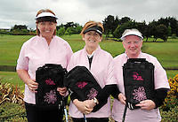 Yvonne Cullen, Claire Moohan and Helen Cassells from Blaclion, Enniskillen Golf Club  at the Galway Golf Club for the AIB Ladies Irish Open Club Challenge qualifier..Photo:Andrew Downes