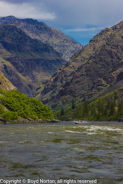 Hells Canyon, Snake River, deepest gorge in North America (7900 feet), forms the border of Idaho and Oregon. Photographer Norton led the fight to stop a major dam in the 1960s that would have flooded this gorge.