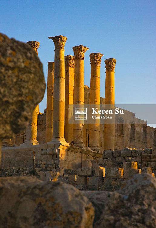 Temple of Artemis, ancient Jerash ruins, Amman, Jordan