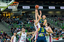 Edo Muric of Slovenia during basketball match between National teams of Slovenia and Latvia in Round #10 of FIBA Basketball World Cup 2019 European Qualifiers, on December 2, 2018 in Arena Stozice, Ljubljana, Slovenia. Photo by Grega Valancic