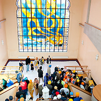 London, UK - 7 April 2013: Sikhs devotees gathers inside the Southall Gundwara to celebrate Nagar Kirtan.