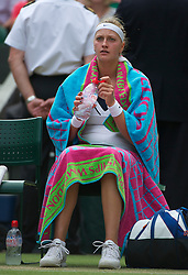 LONDON, ENGLAND - Saturday, July 2, 2011: Petra Kvitova (CZE) during the Ladies' Singles Final on day twelve of the Wimbledon Lawn Tennis Championships at the All England Lawn Tennis and Croquet Club. (Pic by David Rawcliffe/Propaganda)