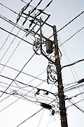 above ground installed utility cables in Japan