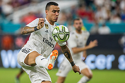 Real Madrid forward Raul De Tomas (26) controls the ball inside the Manchester United box during the second half during International Champions Cup action at Hard Rock Stadium in Miami Gardens, FL, USA on Tuesday, July 31, 2018. Manchester United won, 2-1. Photo by Sam Navarro/Miami Herald/TNS/ABACAPRESS.COM