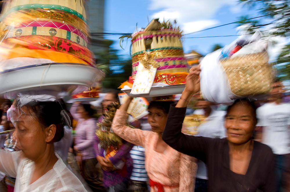 Cremation ceremony in Ubud, Bali, Indonesia.
