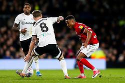 Niclas Eliasson of Bristol City is challenged by Stefan Johansen of Fulham - Rogan/JMP - 07/12/2019 - Craven Cottage - London, England - Fulham v Bristol City - Sky Bet Championship.