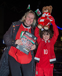 CARDIFF, WALES - Tuesday, November 14, 2017: Wales fans react before entering the Stadium for the international friendly match between Wales and Panama at the Cardiff City Stadium. (Pic by Peter Powell/Propaganda)