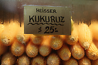 Corn on the cob  for sale  in a Vienna market