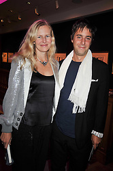 ALANNAH WESTON and her husband ALEXANDER SURSOCK COCHRANE at fundraising dinner and auction in aid of Liver Good Life a charity for people with Hepatitis held at Christies, King Street, London on 16th September 2009.