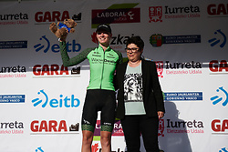 Pauliena Rooijakkers (NED) is awarded the combativity award at Emakumeen Bira 2018 - Stage 3, a 114.5 km road race starting and finishing in Aretxabaleta, Spain on May 21, 2018. Photo by Sean Robinson/Velofocus.com