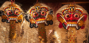 Carved wooden masks, Bali, Indonesia