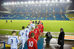 LEEDS, ENGLAND - Tuesday, December 2, 2008: Liverpool and Leeds United players walk out before the FA Youth Cup 3rd Round at Elland Road. (Photo by David Rawcliffe/Propaganda)