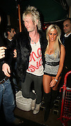 17.JANUARY.2007. LONDON<br /> <br /> A VERY DRUNK DONNY TOURETTE LEAVING CHINAWHITE CLUB AT 3.00AM WITH AN ORANGE LOOKING GIRL, ON THE WAY TO HIS CAB DONNY HAD TO BE HELD AS HE WALKED HE WAS SO DRUNK.<br /> <br /> BYLINE: EDBIMAGEARCHIVE.CO.UK<br /> <br /> *THIS IMAGE IS STRICTLY FOR UK NEWSPAPERS AND MAGAZINES ONLY*<br /> *FOR WORLD WIDE SALES AND WEB USE PLEASE CONTACT EDBIMAGEARCHIVE - 0208 954 5968*