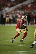 San Francisco 49ers wide receiver Victor Bolden Jr. (17) in action during the 2018 NFL preseason week 4 football game against the Los Angeles Chargers on Thursday, Aug. 30, 2018 in Santa Clara, Calif. The Chargers won the game 23-21. (©Paul Anthony Spinelli)