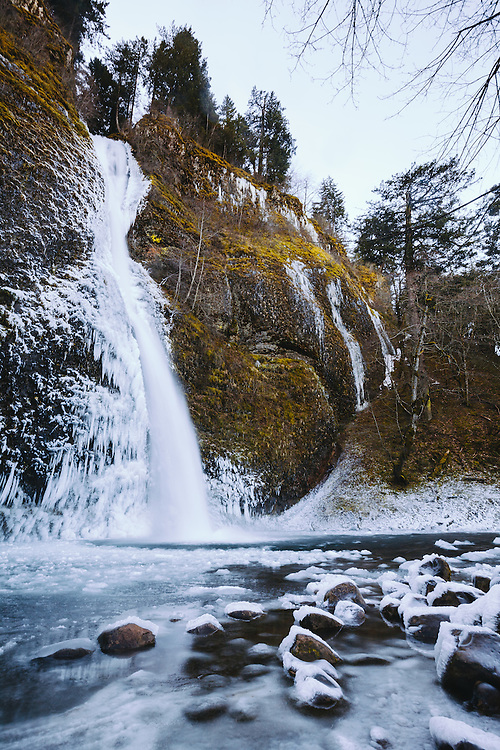 Horsetail Falls, Oregon, January 2016. © Jason Quigley