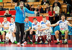 Veselin Vujovic, head coach of Slovenia during handball match between National teams of Germany and Slovenia on Day 6 in Preliminary Round of Men's EHF EURO 2016, on January 20, 2016 in Centennial Hall, Wroclaw, Poland. Photo by Vid Ponikvar / Sportida