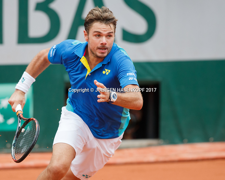 STAN WAWRINKA (SUI)<br /> <br /> Tennis - French Open 2017 - Grand Slam / ATP / WTA / ITF -  Roland Garros - Paris -  - France  - 3 June 2017.