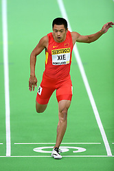 Xie Zhenye of China compets in the men's 60 metres semi-final during day two of the IAAF World Indoor Championships at Oregon Convention Center in Portland, Oregon, the United States, on March 18, 2016. EXPA Pictures © 2016, PhotoCredit: EXPA/ Photoshot/ Yin Bogu<br /> <br /> *****ATTENTION - for AUT, SLO, CRO, SRB, BIH, MAZ, SUI only*****
