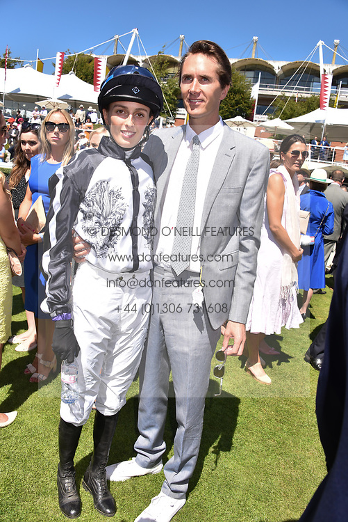 Lady Alice Manners and Otis Ferry at the Qatar Goodwood Festival - Glorious Goodwood, Goodwood Racecourse, West Sussex 02 August 2018.