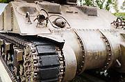 World War II tank at Omaha Beach, Normandy, France