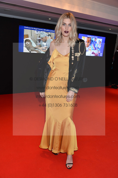 ASHLEY JAMES at the Chain of Hope Gala Ball held at The Grosvenor House Hotel, Park Lane, London on 18th November 2016.