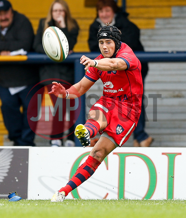 Bristol Fly-Half Matthew Morgan kicks a conversion - Photo mandatory by-line: Rogan Thomson/JMP - 07966 386802 - 14/09/2014 - SPORT - RUGBY UNION - Leeds, England - Headingley Carnegie Stadium - Yorkshire Carnegie v Bristol Rugby - Greene King IPA Championship.